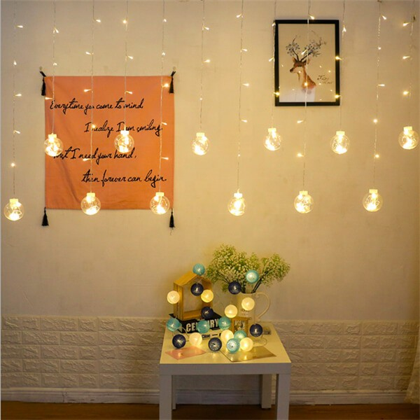 Solar wish ball curtain twinkle fairy string lights 6
