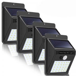 Outdoor wireless 30 led solar motion sensor wall lights 1
