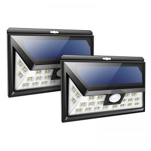 24 led solar wireless motion sensor security wall light 10