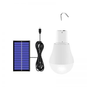 Portable solar led USB charging bulb camping lights 1