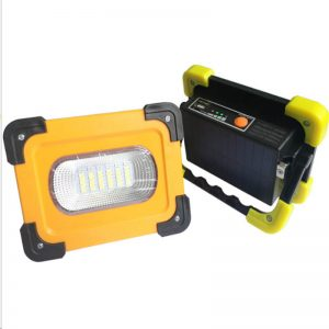 Portable solar led floodlight camping work light 2