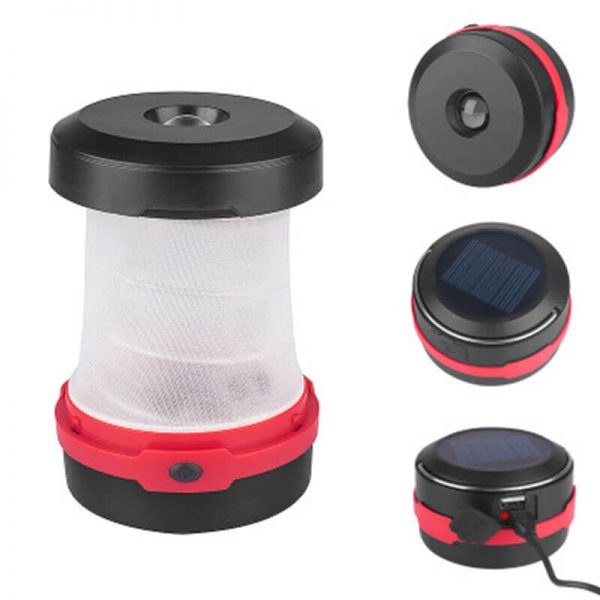 Portable solar collapsible camping lantern light 2