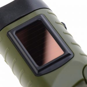 Portable solar led hand crank flashlight camping light 2