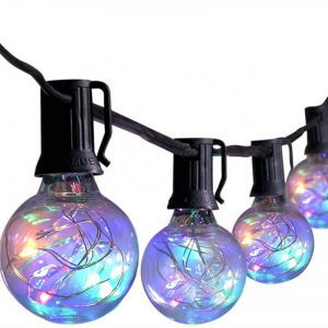 Edison bulbs G40 outdoor solar led string lights with remote